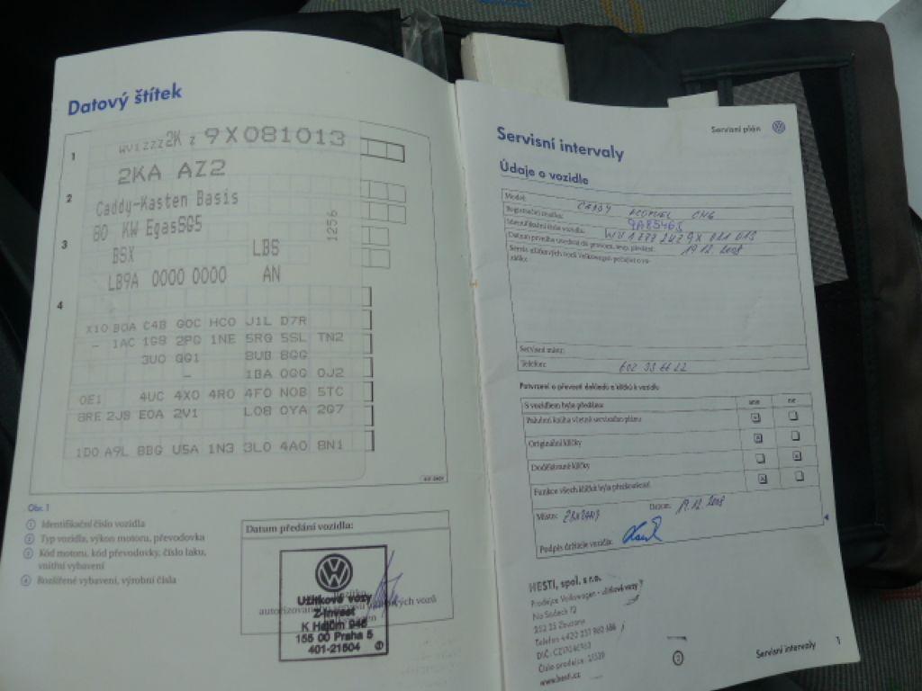 Volkswagen Caddy 2.0i benzín+CNG Nová Nádrž!!! - 13